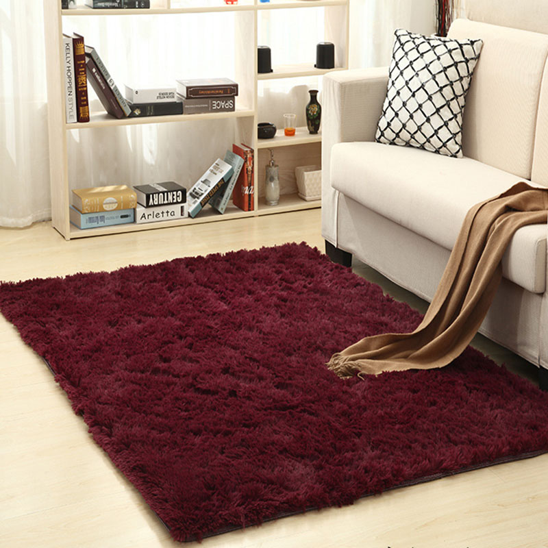 Carpet For Living Room Home Warm Plush Floor Rugs fluffy Mats Kids Room Silky Rugs Faux Fur Area Rug Living Room Mats Yoga Mat in Carpet from Home Garden