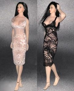 Image 4 - 1/12 TBL PHICEN Action Figure Clothes Lace Dress Black/White Color