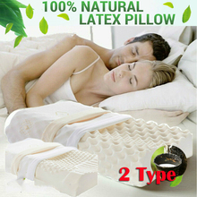Massage Therapy Massaging Memory Natural Thailand Ventilated Latex Foam Pillow / Removable Cover A/B hot selling dunlop ventilated 100% natural latex pillow core standard