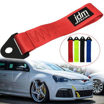 Newest JDM RACING tow strap Universal High Quality Racing car tow strap/tow ropes/Hook/Towing Bars without Screws and nuts