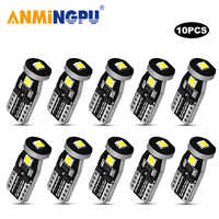 ANMINGPU Signal Lamp 10X W5W Led Car Light 3030SMD Led T10 Bulbs 168 194 Clearance Lights Reading Lamp Auto Dome Light White 12V