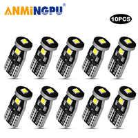 ANMINGPU Signal Lamp 10X W5W Led Car Light 3030SMD Led T10 Bulbs 168 194 Clearance Lights Reading Lamp Auto Dome Light White 12V
