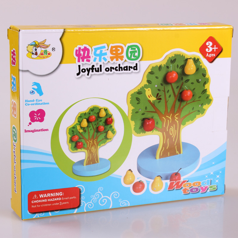 Montessori Young Music Magnetic Apple Tree Early Childhood Education Educational Wooden Toys Happy Orchard Factory Wholesale