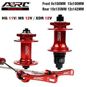 ARC MTB Hub 6 pawls 114 click Micro Spline 9x100 15x100 10x135 12x142 Mountain Bike Bicycle Hub with Quick Release 8 9 10 11 12V