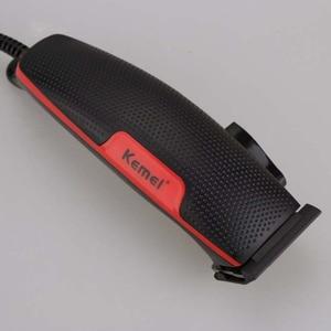 Image 5 - בית שקט שיער קליפר Wired Drimmer Kemei Haricutting מכונה חשמלי תספורת מכשיר גברים פתול גוזם Trimer גילוח מכונת גילוח