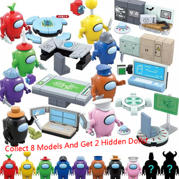 MOC Sets 2020 NEW Among Us Game Series Figures Space Alien Peluche Avatar Building Blocks Classic Model Bricks Kids Kits Tron image