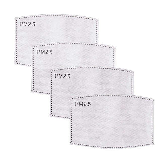 10Pcs/Set PM2.5  Mouth Mask Replaceable Filter-slice 5 Layers Non-woven Child Kids Activated Carbon Filter (4.7*3inch) 4