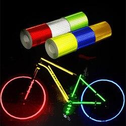 5 см х 3 м Автомобильный Светоотражающий материал, клейкая лента для автомобильных мотоциклов, Предупреждение лента для безопасности, свето...