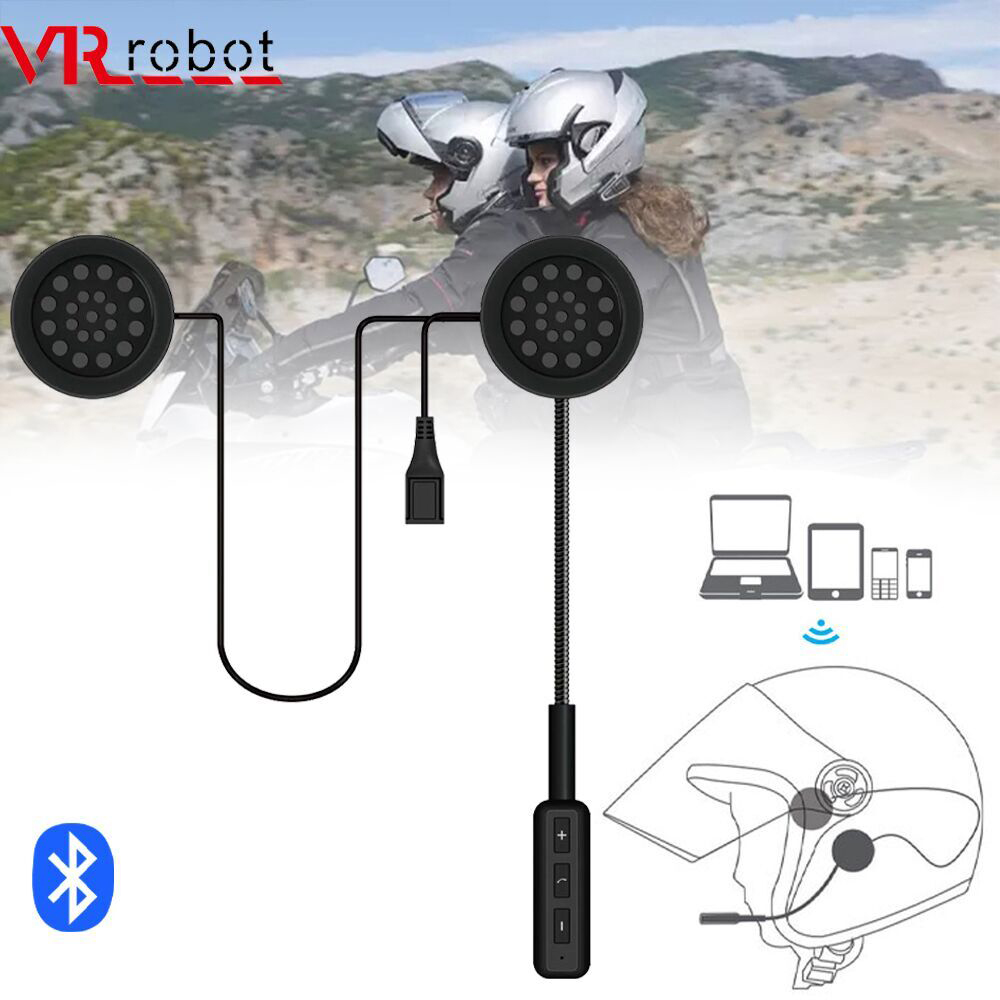 VR Robot Motor Helmet Headset Bluetooth V5.0 CRS Motorcycle Wireless Stereo Earphone Support Handsfree Mic Voice Control