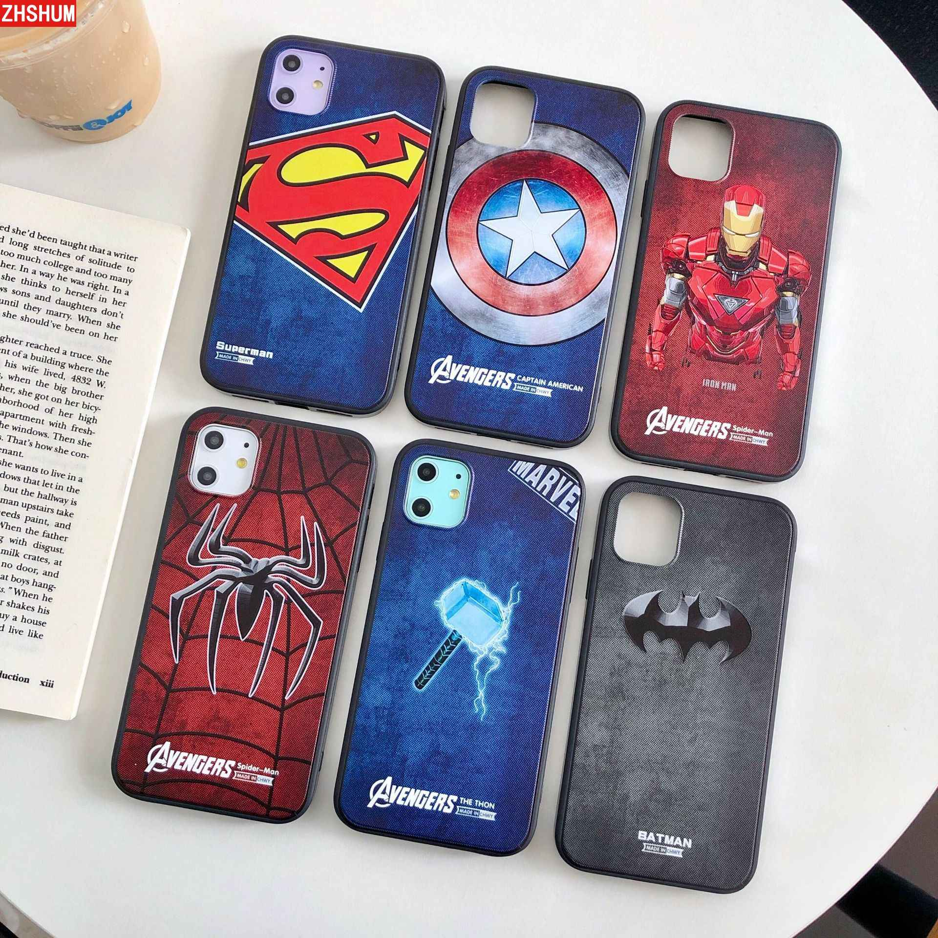 Funda 3D Hero para IPhone 11 Pro Max XS XR funda blanda de silicona para IPhone 11 Pro X 8 7 6 6S Plus funda Batman Superman