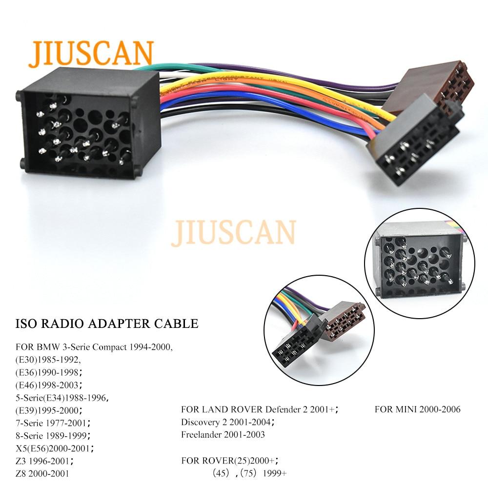 radio wiring land rover jiuscan 12 003 iso radio wiring harness adaptor connector for  radio wiring harness adaptor connector