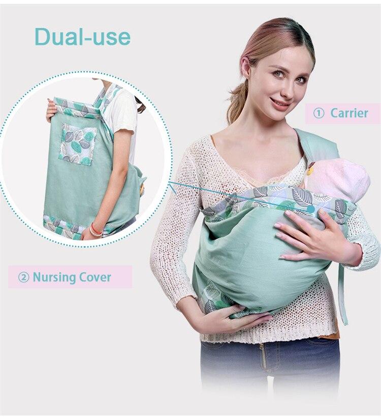 0-36m portador de bebê recém-nascido sling dupla