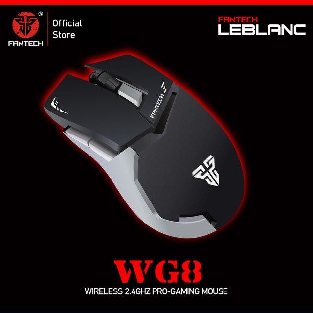 FANTECH WG8 2.4G ماوس لاسلكي 6 أزرار 2000 ديسيبل متوحد الخواص ماوس الألعاب ماوس لاسلكي مع USB استقبال فأرة للكمبيوتر المحمول