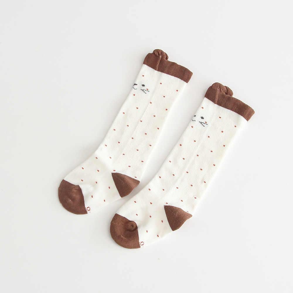 ฤดูใบไม้ร่วงถุงเท้า 2019 ใหม่ Kids'socks หญิงทารกกลางหลอดครึ่งถุงเท้า Jacquard ถุงเท้าแมว