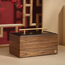 2021 Luxury Large Wooden Jewelry Box Organizer Multilayer Jewelry Storage Case Gift Casket Earring Ring Necklace Jewellery Boxes