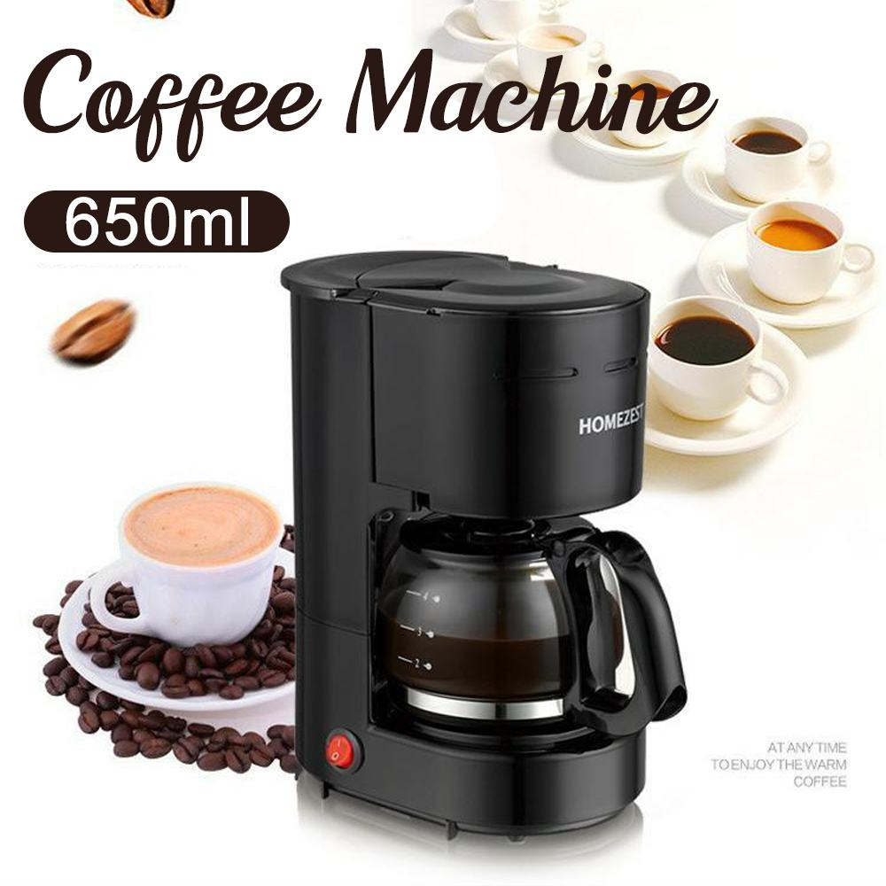 600W Electric Drip Coffee Makers Household Coffee Machine 0.65L Electric Drip Coffee Maker  6 Cup Tea Coffee Pot 220V