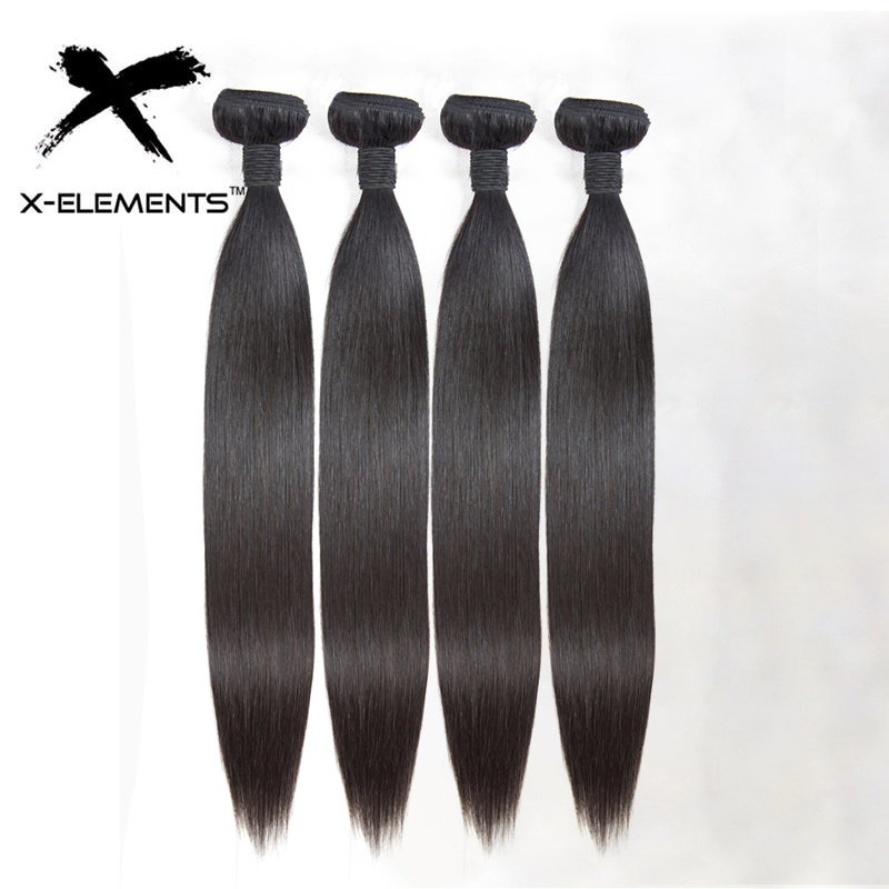 100% Human Hair Bundles Straight Human Hair Weaves Malaysian 1/3/4 Bundles Deals Non-Remy Natural Color 8