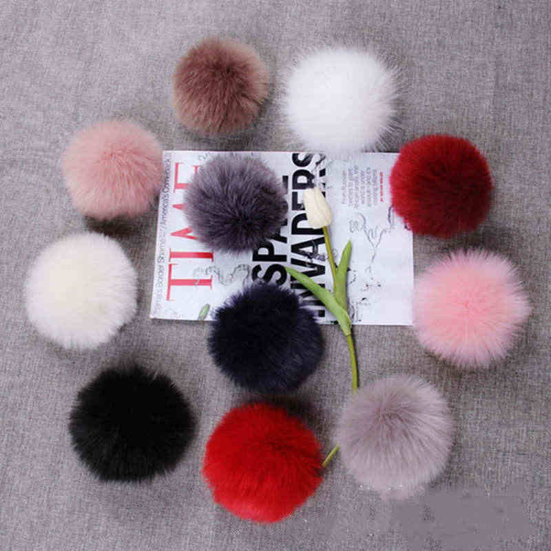 1Pcs 8cm Grote pompom Fluffy Pluche doek Craft DIY home decor Naaibenodigdheden mix kleur Craft bloemen bal party of Aniversary