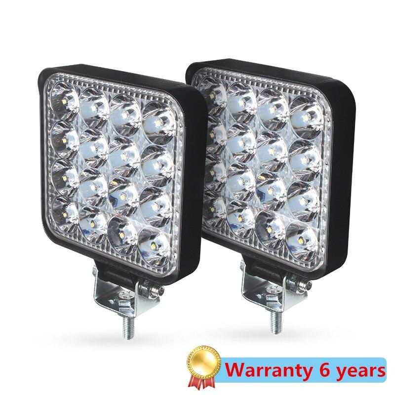 New Led light bar 48w Led bar 16barra Square Spotlight Off road LED work light 12V 24V 27W For Car Truck 4X4 4WD Car SUV ATV
