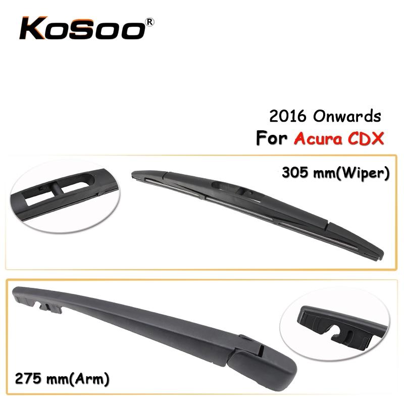 KOSOO Авто Задняя щетка автомобильного стеклоочистителя для Acura CDX,305 мм (2016 г.) заднего стекла стеклоочистителей рычаг, автомобильные аксессуа...