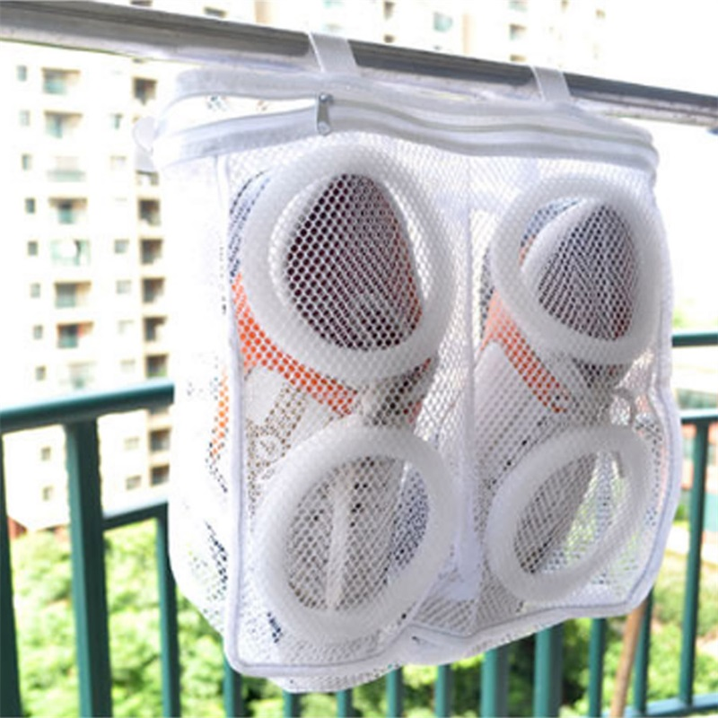 1 Chiếc Giày Giặt Treo Túi Khô Giày Sneaker Lưới Túi Lưới Đựng Quần Áo Máy Giặt Nhà Sử Dụng Quần Áo Giặt Túi Lưới Giày Bảo Vệ Rửa túi title=