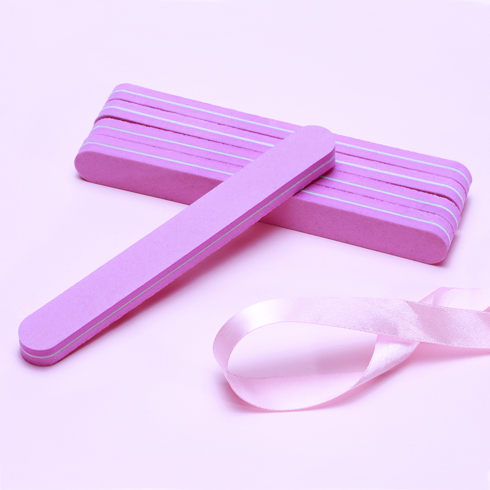 10pcs Pink Form 180/100 Nail Files Buffer Block Sponge Art File For UV Gel Proffesional Pedicure Sanding Tool TF18