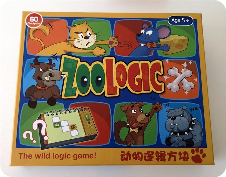 Boîte logique animaux opérations de maintien de la paix pensée entraînement jouet Concentration jeu de Table enfants Puzzle échecs