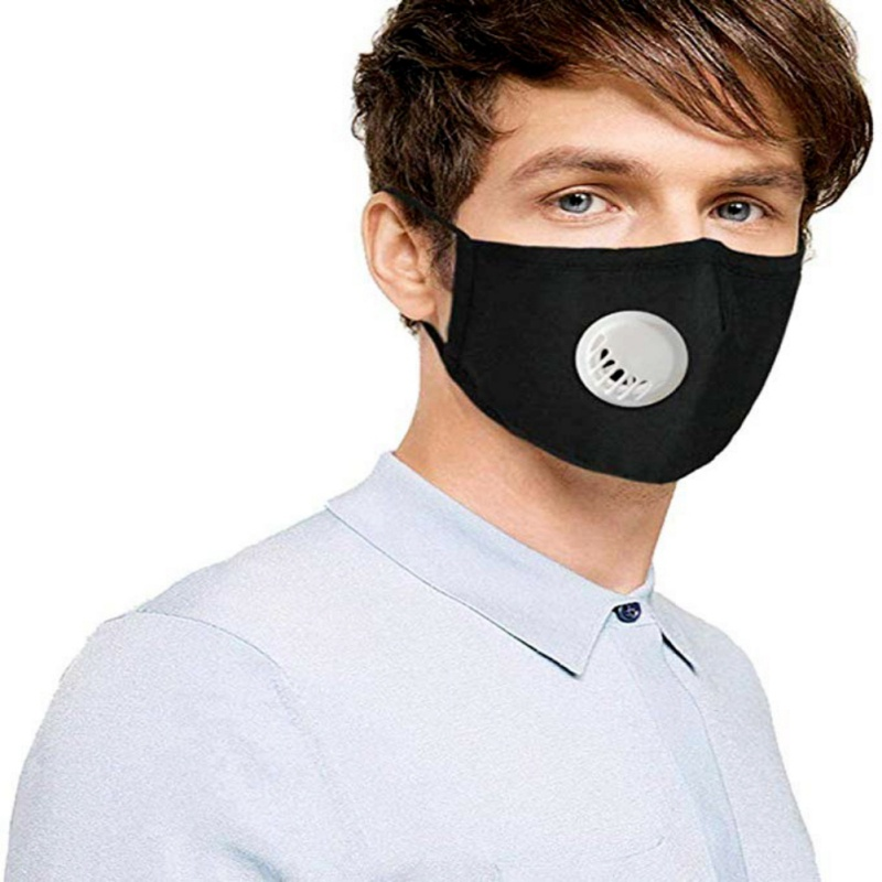 Hc4b784012a9c48959d33513e700f86cbQ PM2.5 Mask +2 Filters Breathe Reusable Face Mask Anti For Outdoor Sports Travel Resist Dust Germs Allergies Mask