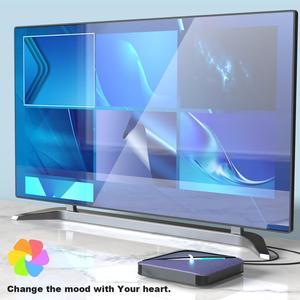 Image 4 - A95X F3 Android 9.0 Tv boîte rvb lumière TV boîte 4GB 64GB 32GB Amlogic S905X3 boîte 2.4/5G wifi 8K Plex médias serveur boîte intelligente