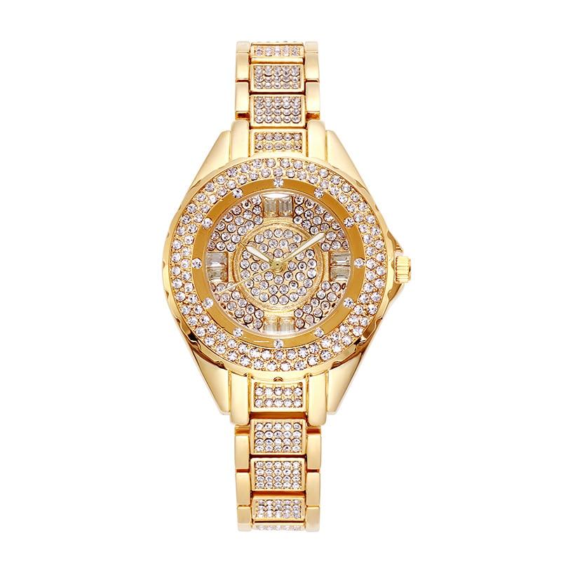 Image 5 - 2020 Hot Sale Women Watches Lady Diamond Stone Dress Watch Gold Silver Stainless Steel Rhineston Wristwatch Female Crystal WatchWomens Watches   -