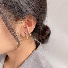 Stud-Earrings Ear-Cuff Punk-Style Women Fashion Simple Geometric Metal for Gold-Silver-Color