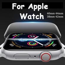 Filme resistente a riscos do protetor 42mm 38mm 9d hd para a série 6 5 4 3 2 se do iwatch filme dos softs para a faixa de relógio 44mm 40mm da apple