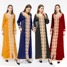 Luxury Lace Abaya Kimono Hijab Dress Muslim Arabic Dubai African Women Pakistan Caftan Marocain Kaftan Qatar Islamic Clothing(China)