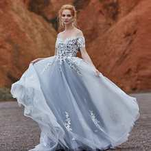 SINGLE ELEMENT 2019 Wedding Dress Sexy Off The Shoulder Zipper Back Robe De Mariee Custom Made