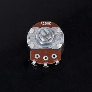5Pcs 250K-ohm Audio Potentiometer Split Shaft Gitarre Volumen Control 24mm Größe Töpfe