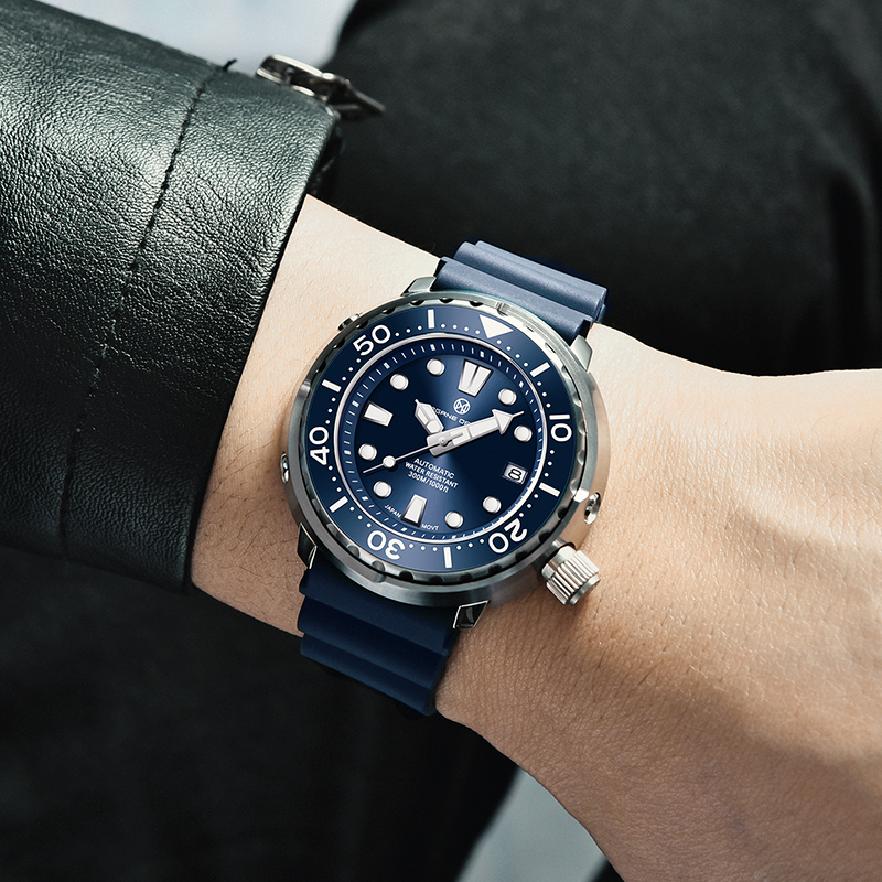 PAGRNE DESIGN Watch For Men Tuna diver 300M Waterproof NH35 Mechanical Watch Sapphire Crystal Automatic Wrist watch Reloj Hombre 2