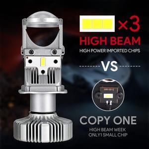 Image 4 - NOVSIGHT H4 LED hi lo mini projector lens headlight for car clear beam pattern 12V 6500k no astigmatic problem lifetime warranty
