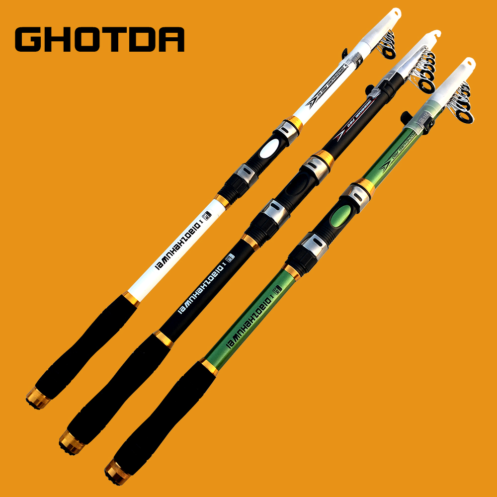 GHOTDA NEW High Carbon Portable Telescopic Fishing Rod 2.1M -3.6M Carp Fishing Fishing Tackle