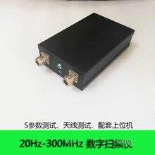 QM300T 20Hz 300 Mhz Digitale Frequentie Scanner Audio Frequentie Scanner Vector Netwerk Analyzer Standaard Netwerk