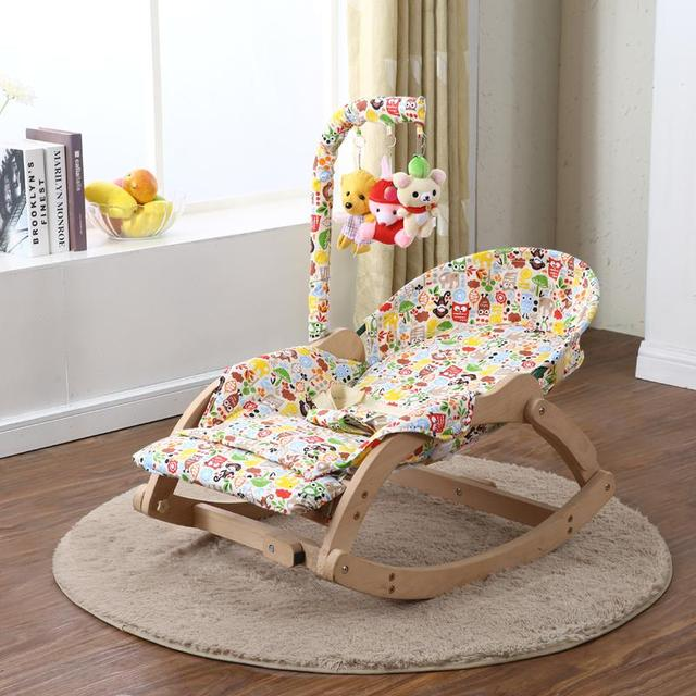 Soothing Chair Rocking Chair Baby Tremble Small Cradle Bed Solid