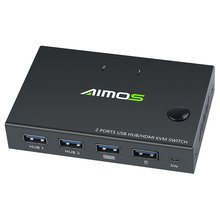 4k usb hdmi kvm переключатель коробка видео дисплей сплиттер