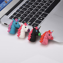 การ์ตูน unicorn USB Flash Drives 256GB 8GB 16GB rainbow Horse ไดรฟ์ปากกา 32GB 64GB usb stick mini Memory Stick pendrive โป(China)