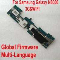 Carte mère originale du micrologiciel mondial pour Samsung Galaxy Note 10.1 N8000 16GB carte mère WiFi et 3G Circuits