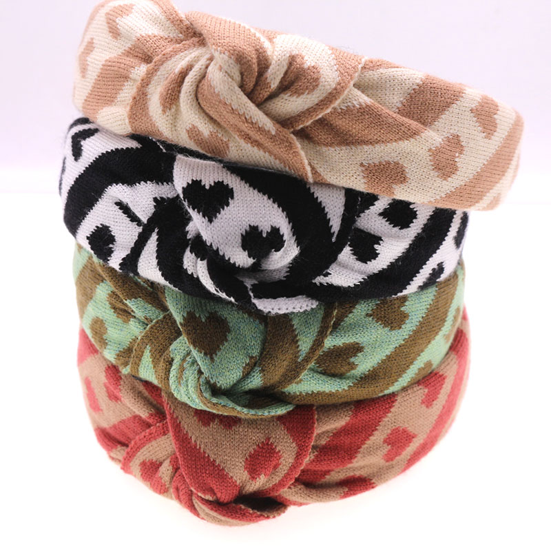 Knitting Fabric Heart Knot Hairband Knotted  Headband Customized Hair Accessories
