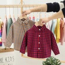 Детская одежда; коллекция года; детские клетчатые Топы; сезон весна; стиль; детская одежда; рубашка с длинными рукавами; N133