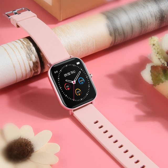 COLMI P8 1.4 inch Smart Watch Men Full Touch Fitness Tracker Blood Pressure Smart Clock Women GTS Smartwatch for Xiaomi Consumer Electronics