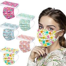 10-100 máscaras macias descartáveis unisex da máscara da páscoa dos pces para adultos máscaras 3-layer máscaras jetables imprimés despeje femmes