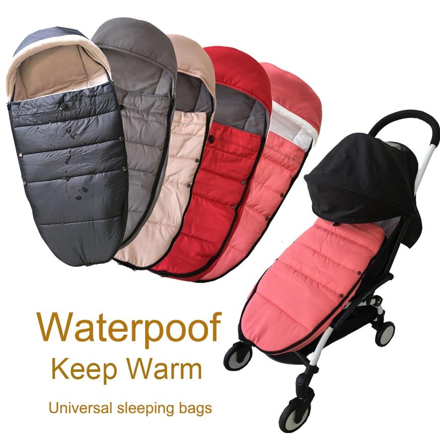 Universal Baby Stroller Accessories Winter Socks Sleeping Bag Windproof Warm Sleepsack Baby Pushchair Footmuff For Babyzen Yoyo