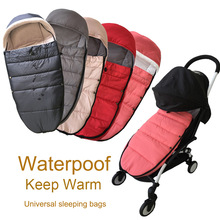Universal baby stroller accessories Winter socks Sleeping Bag Windproof Warm Sleepsack Baby Pushchair Footmuff For Babyzen yoyo