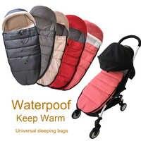 Universal carrinho de bebê acessórios meias inverno saco de dormir à prova de vento quente sleepsack bebê pushchair footmuff para babyzen yoyo